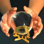 A fortune teller's crystal ball