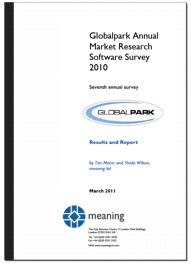 Cover of the 2010 Globalpark MR Software Survey report